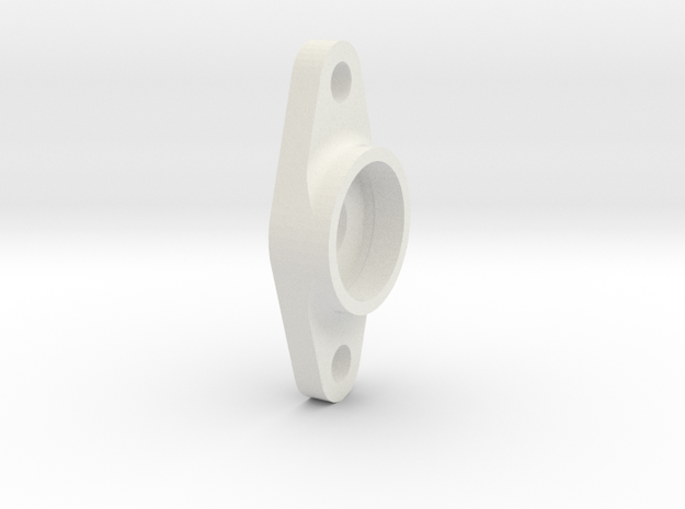 King Of Crushers Top Shaft Bearing Support in White Natural Versatile Plastic: 1:10