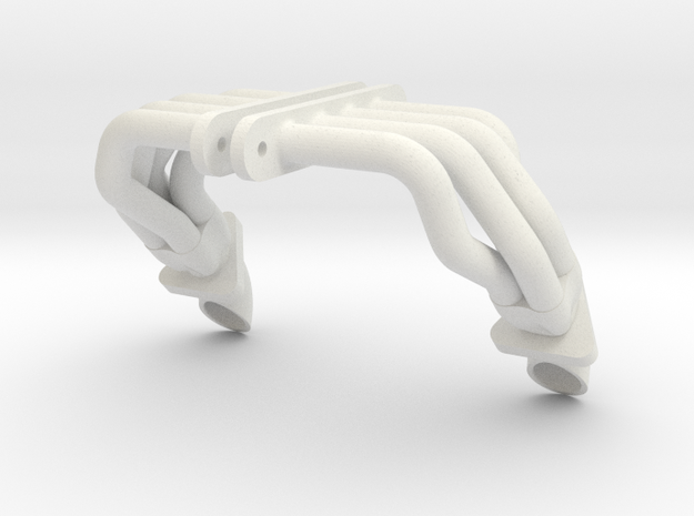 SMT10 MJ Style Headers With Flange And Tip in White Natural Versatile Plastic: 1:10