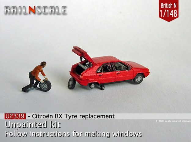 Citroën BX tyre replacement (British N 1:148)