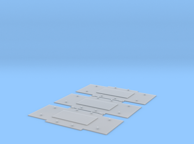 "Baseplates for Bedford axleguards, 9'4"" w/b in Smooth Fine Detail Plastic"