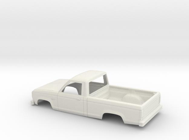 1/25 1983-88 Ford Ranger Reg Cab Shell in White Natural Versatile Plastic
