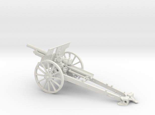 1/32 IJA Type 91 105mm Howitzer(Horse Drawn) towed in White Natural Versatile Plastic