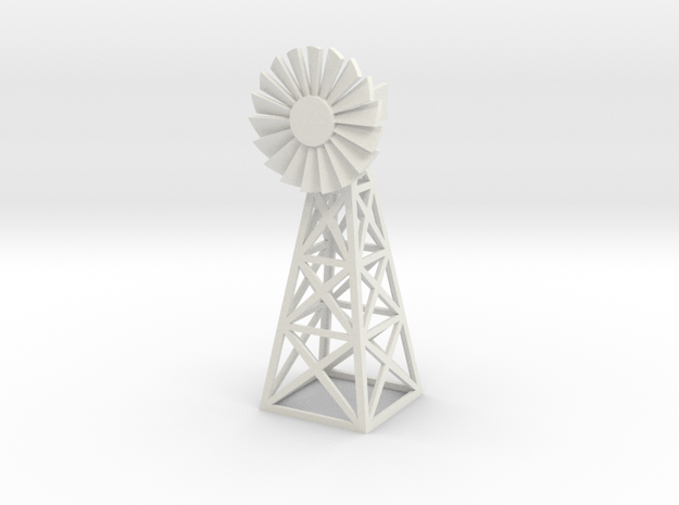 Steel Windmill 1/56 in White Natural Versatile Plastic