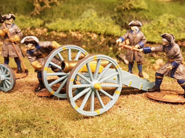 Carolean howitzer in Smooth Fine Detail Plastic: 1:56