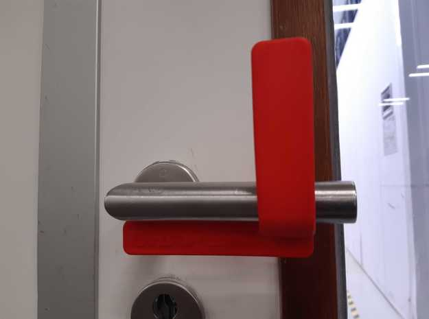 Touchless Door Opener (Right) by Shapeways in White Natural Versatile Plastic