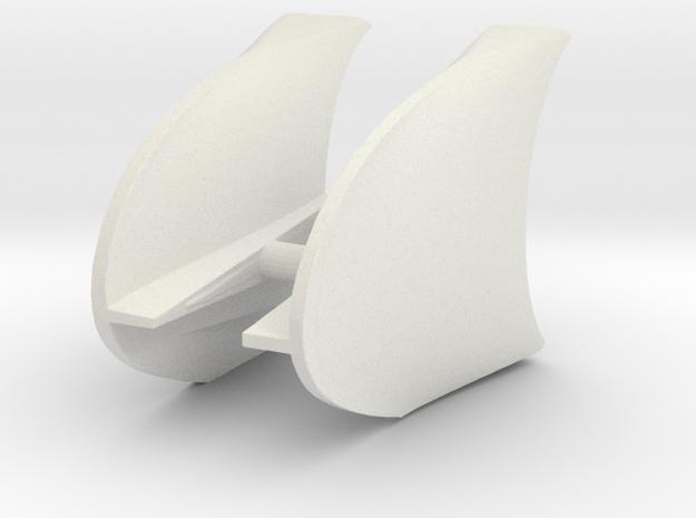 Tucan front fenders 4.75 in White Natural Versatile Plastic
