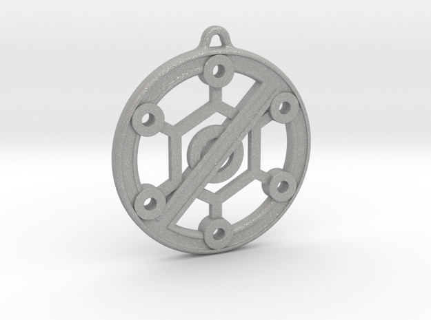 Anti-Virus Lockdown Earring ~ 29mm in Aluminum
