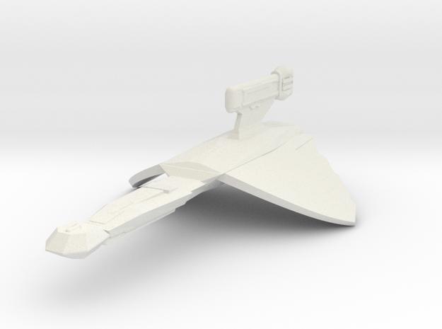 2500 Klingon K-27 class in White Natural Versatile Plastic