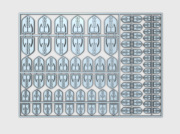 Executioners - Flat Vehicle Insignia pack in Smooth Fine Detail Plastic