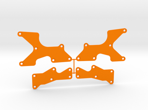 TLR 8X Arm Inserts in Orange Processed Versatile Plastic