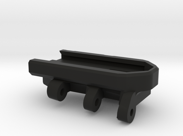 Scar stock adapter in Black Natural Versatile Plastic