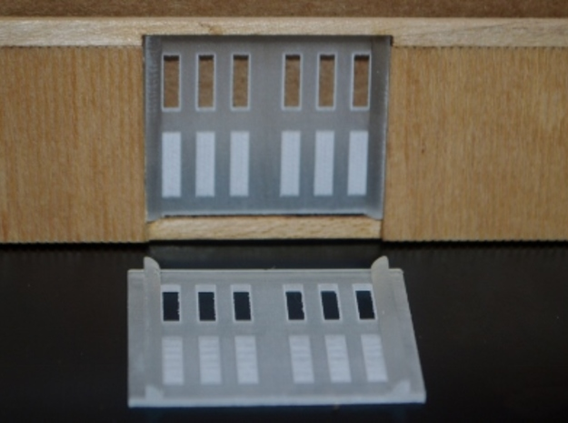 HO-Scale PC&F Replacement Doors in Smooth Fine Detail Plastic
