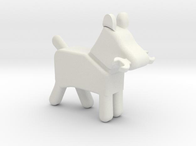 Wrenchdog 3D in White Natural Versatile Plastic