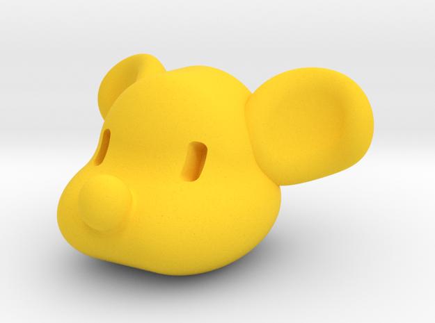 doggy head in Yellow Processed Versatile Plastic