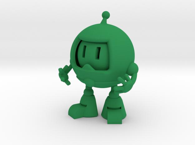 emoji robot in Green Processed Versatile Plastic