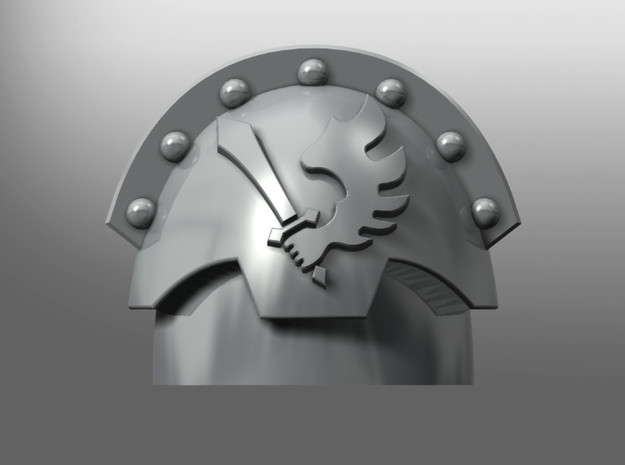 Honoris ptrn shoulder pads: Angels of the Crow in Smooth Fine Detail Plastic: Small