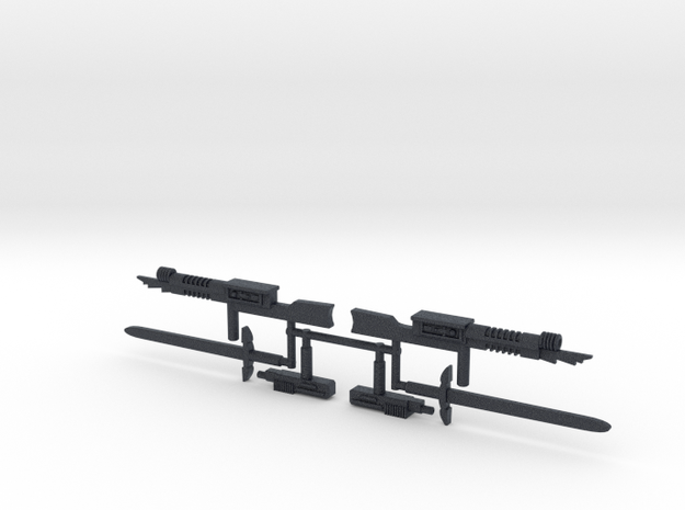 BSG Cylon Weapons (3mm, 4mm, 5mm) in Black PA12: Small
