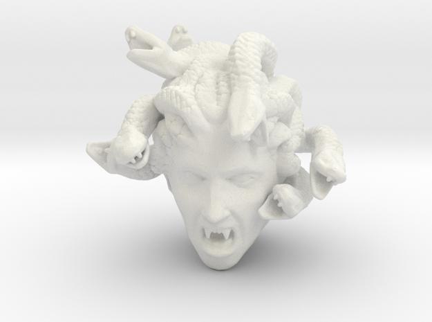 Medusa's Head in White Natural Versatile Plastic