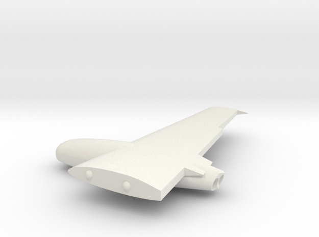 B-45-144scale-3-RightWing in White Natural Versatile Plastic