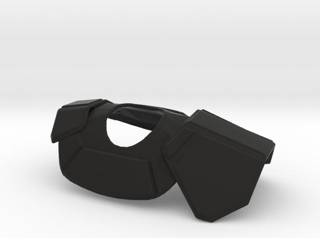Clone Trooper Pauldron 12in in Black Premium Versatile Plastic