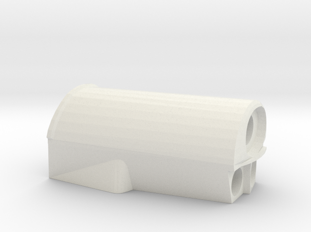 T6A Throttle Grip Top in White Natural Versatile Plastic