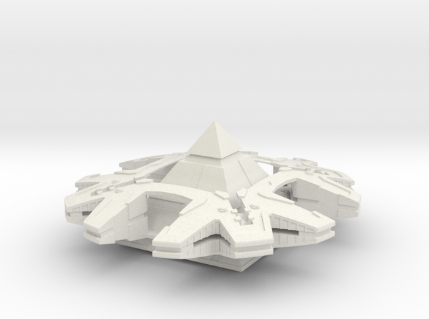 "SG - Hat'ak Motherships 3 (3"") in White Natural Versatile Plastic"