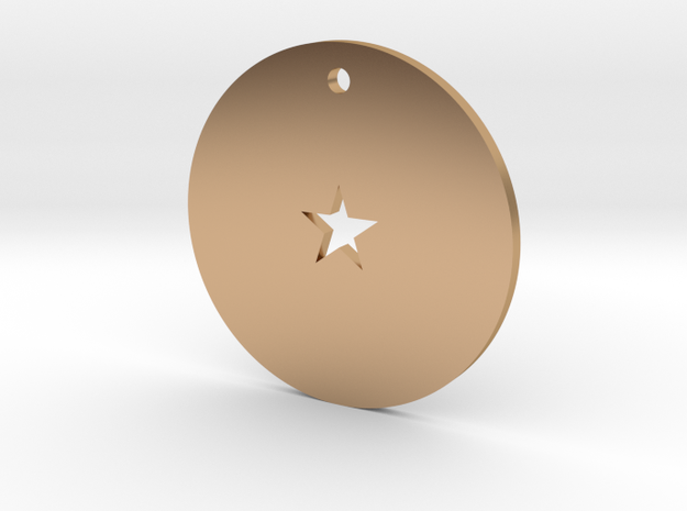 One Star Dragon Ball Charm in Polished Bronze