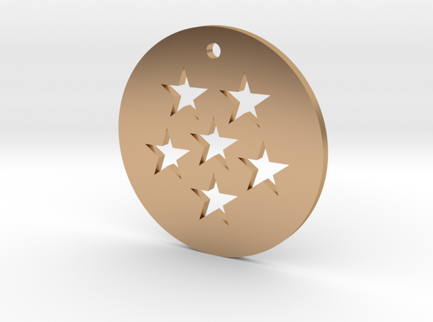 Six Star Dragon Ball Charm in Polished Bronze