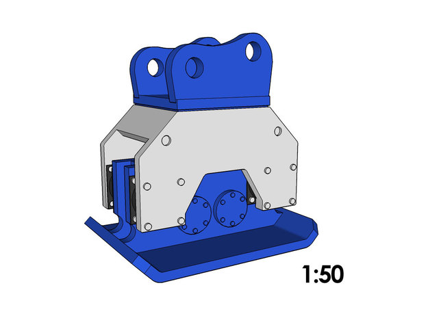 1:50 - Compactor for 20-25t excavators in Smooth Fine Detail Plastic