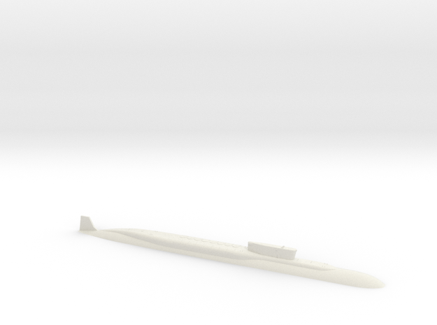 SSBN Borei 1:1250 in White Natural Versatile Plastic