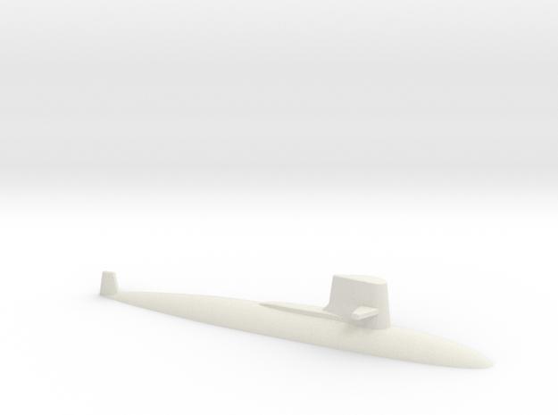 USS Skipjack 1:1250 in White Natural Versatile Plastic