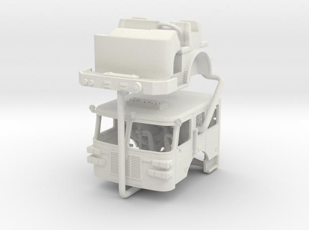 1/87 Sutphen Flat Roof Cab in White Natural Versatile Plastic