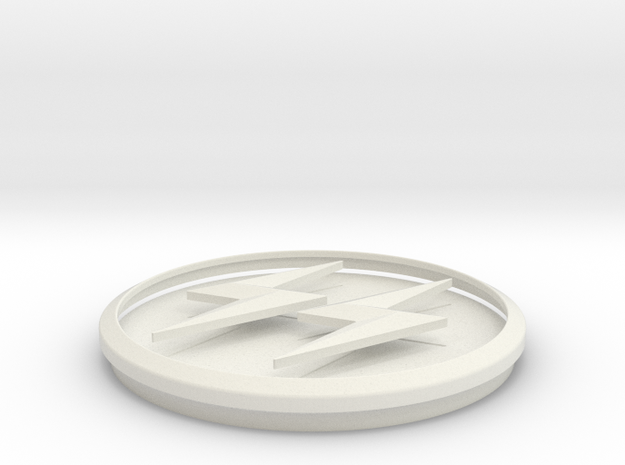 CW Earth X Reverse Flash Emblem in White Natural Versatile Plastic