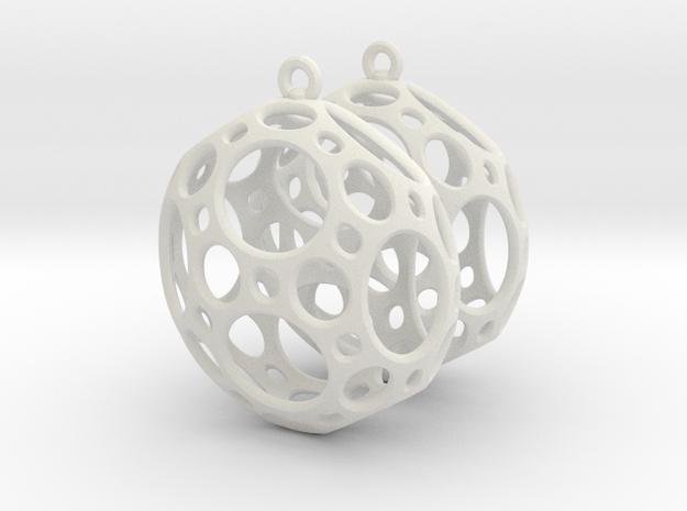 Porthole Earrings 3d printed