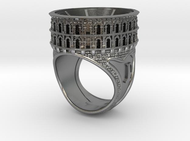 Bague Arènes de Nîmes JP - colosseum ring in Natural Silver
