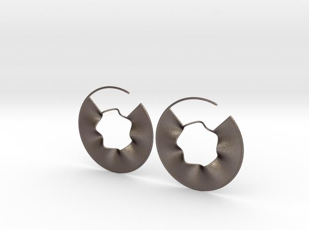 Wavy in Polished Bronzed Silver Steel