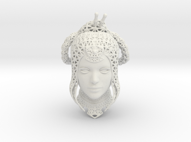 Princess Kitana (wireframe) Fan Art in White Natural Versatile Plastic