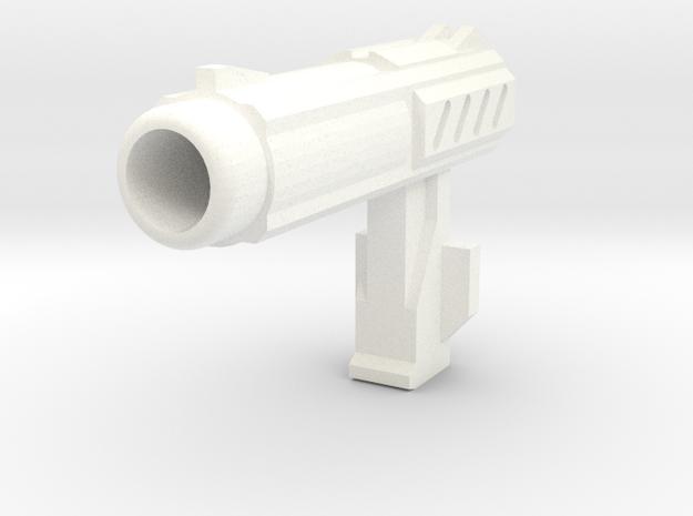 MP Autobot Hand Gun QTY 1 in White Processed Versatile Plastic