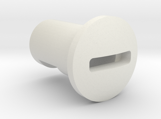 Kill Key Low profile  in White Natural Versatile Plastic
