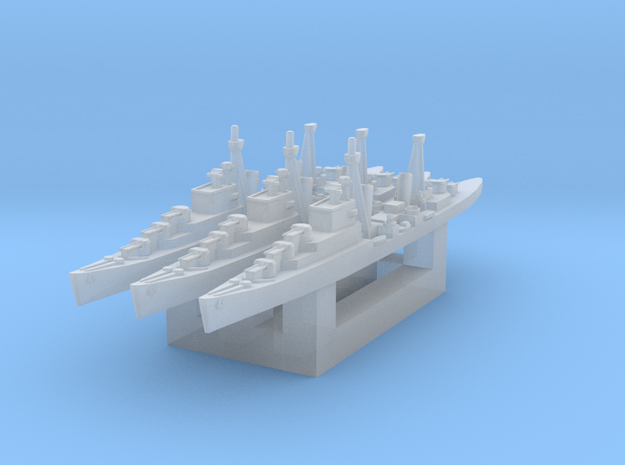 Dido class cruiser 1/3000 x3 in Smooth Fine Detail Plastic