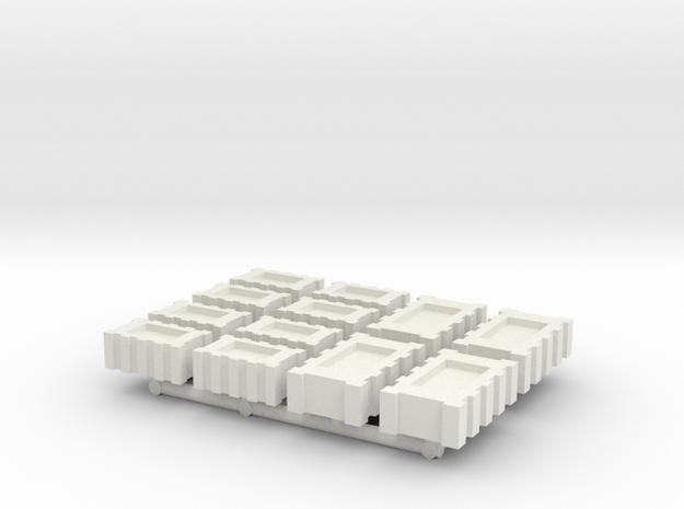 StarWars millinium falcon cargo boxs flat in White Natural Versatile Plastic