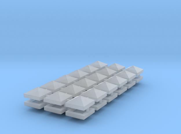 Dach für Zaunpfeiler, Mauerpfeiler oder Rauchfänge in Smooth Fine Detail Plastic