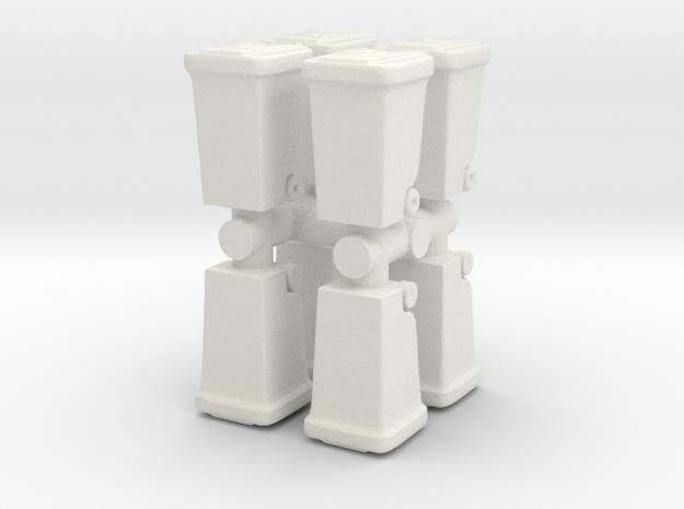 Waste Collector Bin (x8) 1/100 in White Natural Versatile Plastic