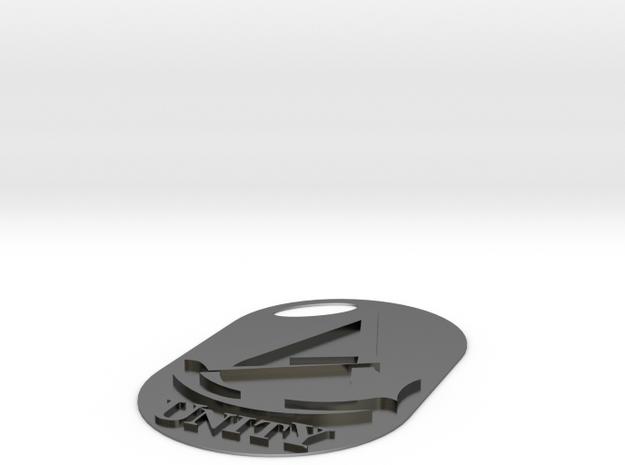 Assassins creed - Unity Logo/Keychain slim in Polished Silver