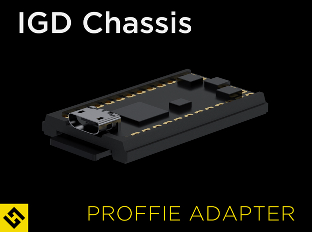 IGD Chassis - Proffieboard Adapter in Black Natural Versatile Plastic