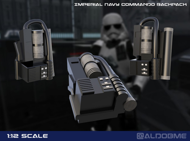 Imperial Navy Commando Backpack in Black PA12
