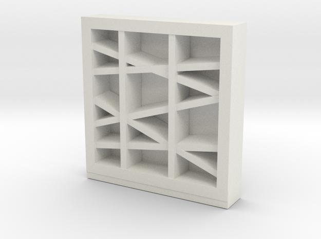 Modern Miniature 1:48 Rack in White Natural Versatile Plastic: 1:48 - O