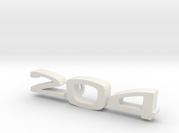 keychain peugeot 204 in White Natural Versatile Plastic