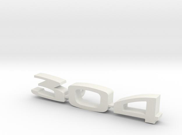 keychain peugeot 304 in White Natural Versatile Plastic