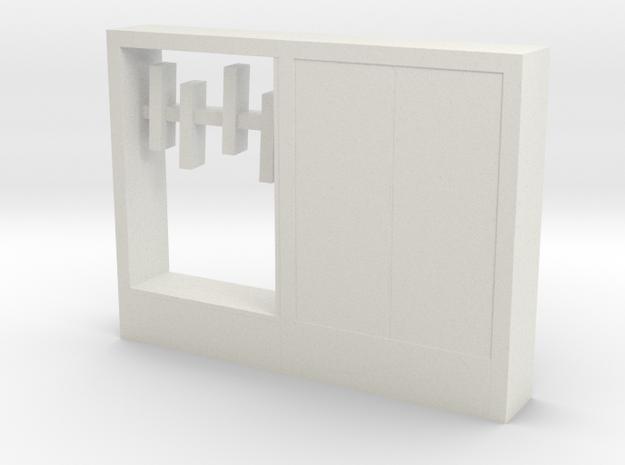 Modern Miniature 1:24 Hallway Furniture in White Natural Versatile Plastic: 1:24